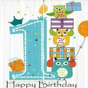 Curtains Happy Birthday One Print Backdrop 35014